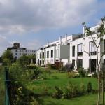 Stadthäuser Industriestraße Gartenansicht